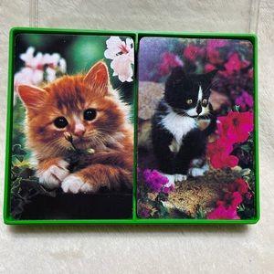 Vintage Hallmark Garden Kittens Playing Cards